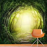 Stone Path Through Magic Forest Fairy Fantasy Wall Mural Nature Photo Wallpaper available in 8 Sizes Gigantic Digital