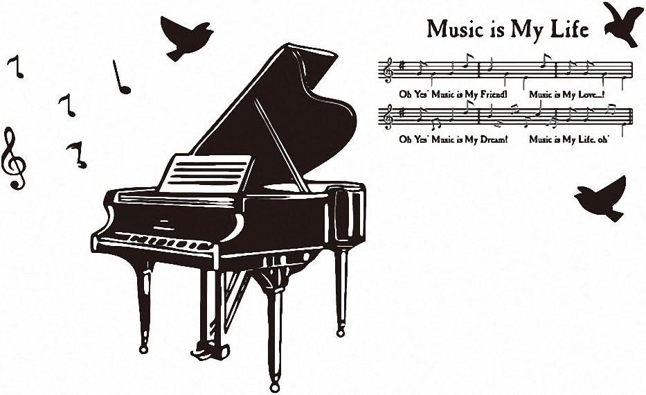 okfeel Piano Música Vinilo Adhesivo Adhesivos de pared ...