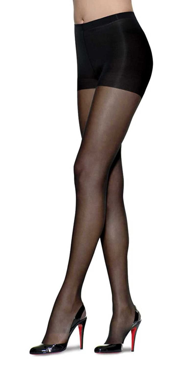 7f0a392d80c L eggs Sheer Energy Pantyhose - Control Top - Sheer Toe - Queen Plus (Jet  Black) at Amazon Women s Clothing store