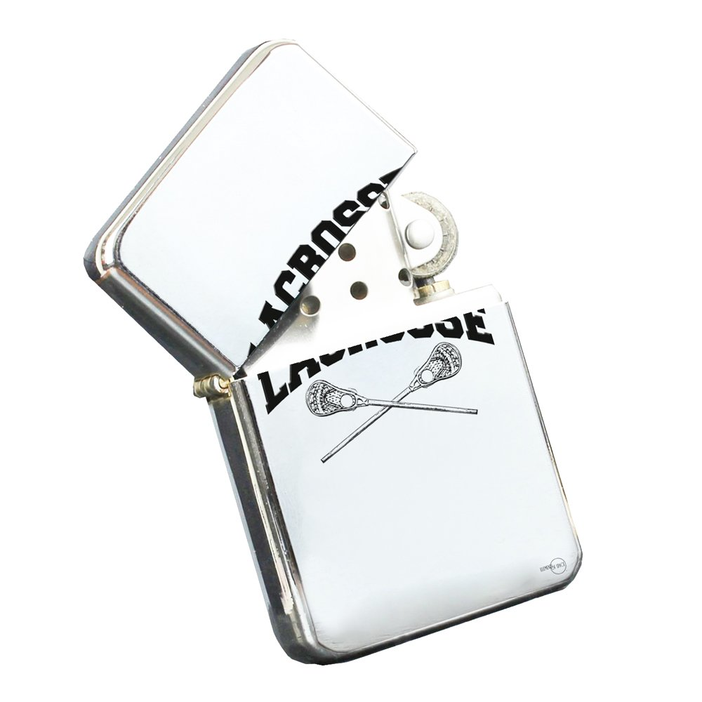 Lacrosse - Silver Chrome Pocket Lighter by Elements of Space