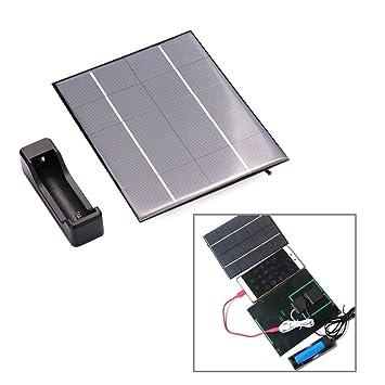 hongfei Cargador Solar del teléfono Celular 3.5W 18650 ...