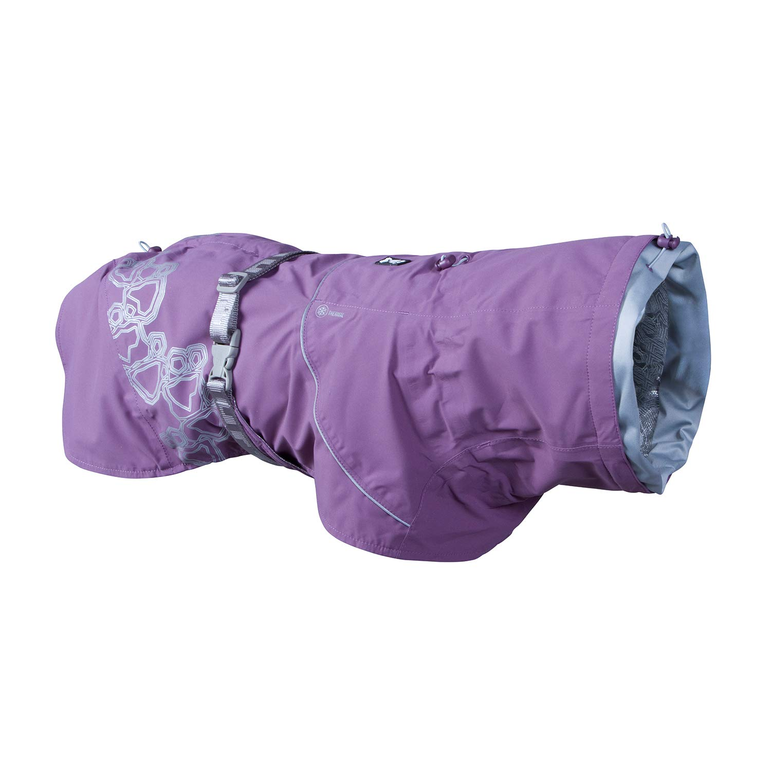 Hurtta Drizzle Coat, Dog Raincoat, Currant, 24 in by Hurtta