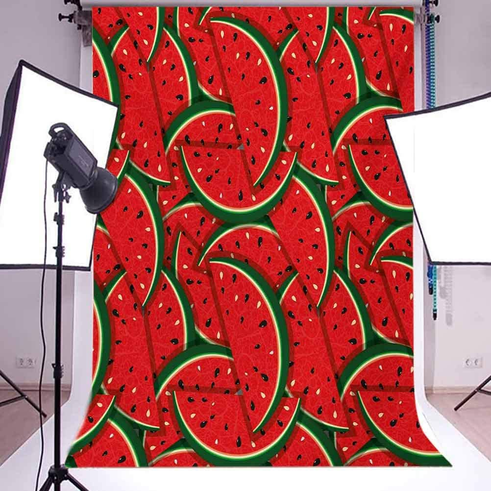 Fruits 6.5x10 FT Photo Backdrops,Refreshing Watermelon Slices Summer Season Tropical Organic Yummy Artsy Design Background for Photography Kids Adult Photo Booth Video Shoot Vinyl Studio Props