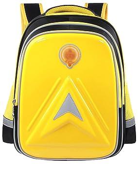 Mochila Escolar Impermeable para Estudiante Mochilas Infantiles Amarillo Grande L: Amazon.es: Equipaje