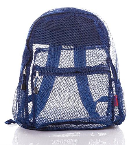 Bravo Mesh Backpack Transparent See Through Large Size 16