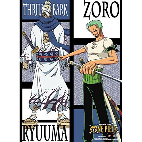 One Piece Zoro VS Ryuuma Wallscroll Anime Posters