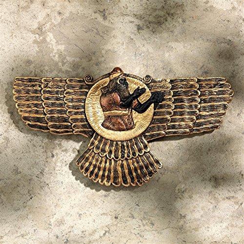 - Design Toscano Ashur The Assyrian God of Earth, Air and Sun Wall Sculpture