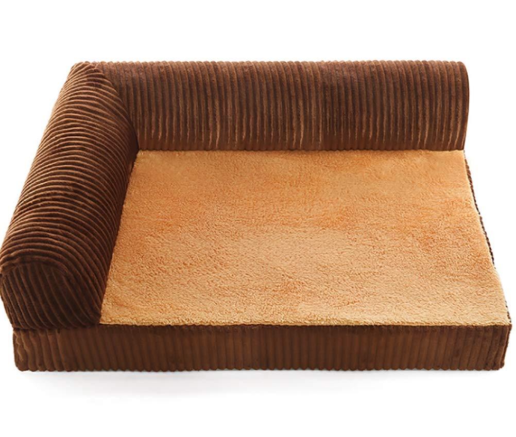 Pet Nest Kennel Dog Bed Dog Mat golden Hair Large Dog Washable,Brown