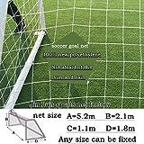 jinlun Objetivo de Fútbol Net, Full size6 × 4foot, 10 × 7foot, 16 × 7foot, 24 × 8foot, Nuevo Polietileno 3 mm de Espesor de Malla de Cuerda DE 12 cm.