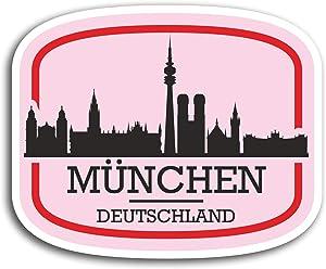 2 x 10cm Munich Munchen Germany Vinyl Stickers - Sticker Laptop Luggage #19562 (10cm Wide)