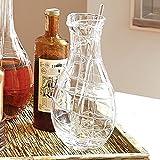 European Art Glass Web Bar Martini Pitcher   Glass Spoon Mixing Serving Modern