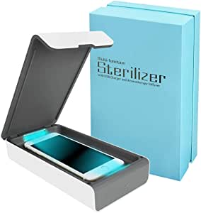 UV Cell Phone Sanitizer, Portable UV Light Smart Phone Sterilizer, Aromatherapy Function Disinfector,Phone Toothbrush Jewelry Watches Glasses Cleaner Case