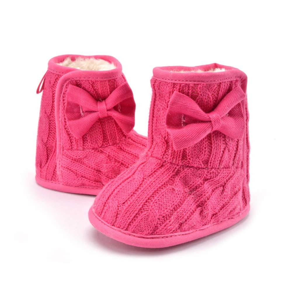 MZjJPN Unisex Toddler Infant Newborn Baby Boy Girl Winter Fur Snow Boots Warm Shoes Booties First Walkers 0-18 M