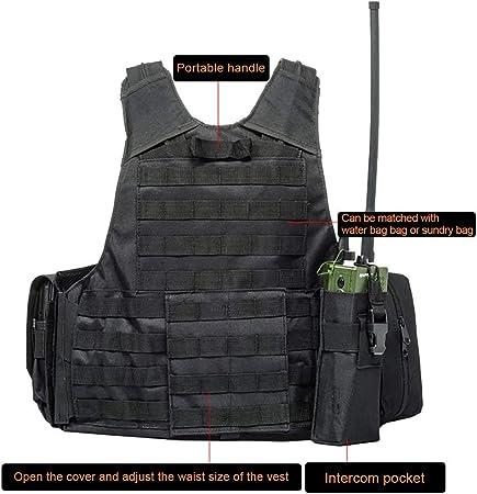 Will Outdoor Chaleco t/áctico CS Field Airsoft Paintball Vest Fuerzas Especiales multiprop/ósito Chaleco de Combate de protecci/ón con Bolsa Molle Equipo t/áctico