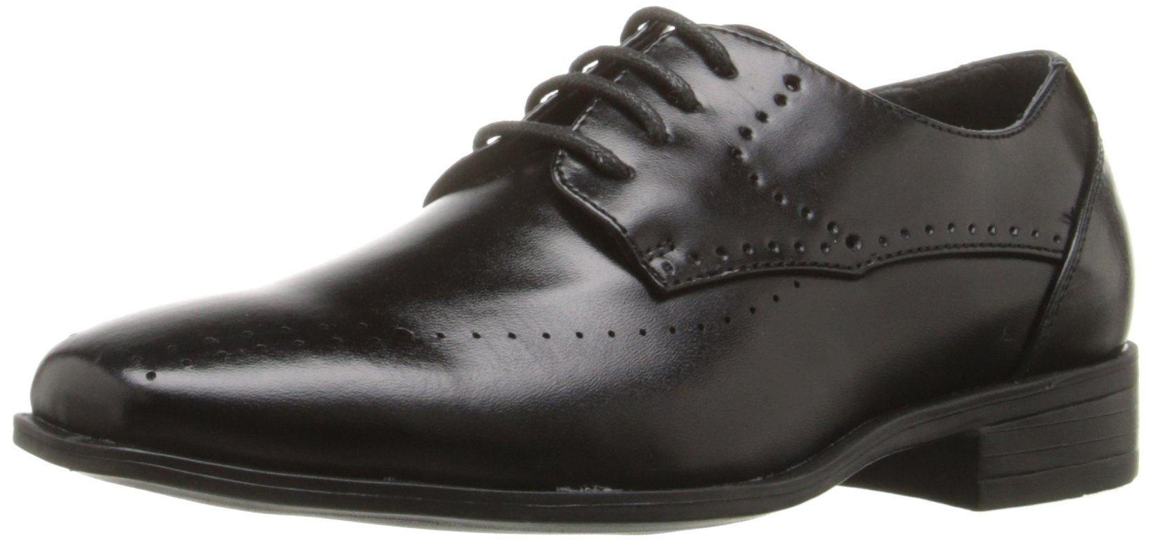 Stacy Adams Atwell Plain Toe Lace Oxford (Little Kid/Big Kid), Black, 1.5 M US Little Kid
