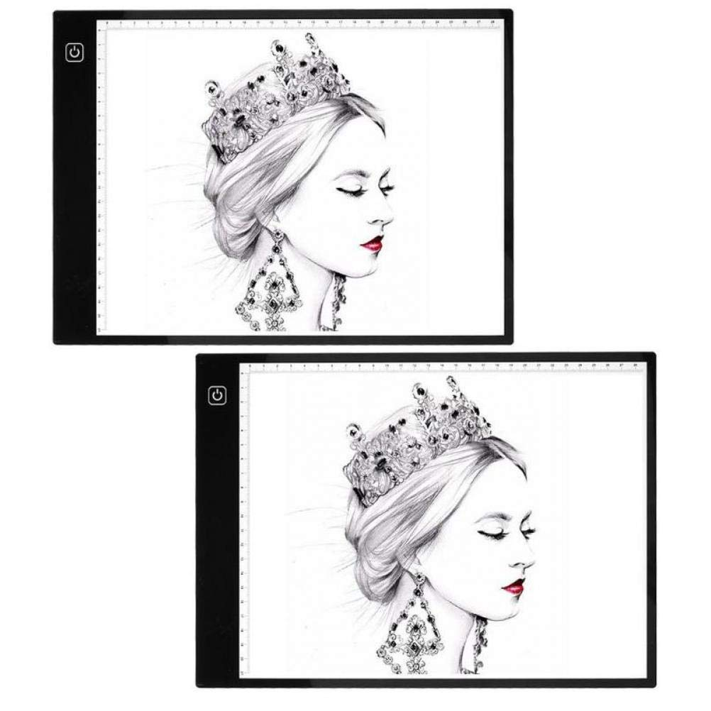 Oulensy A4 Digital Copy Consiglio tavoletta Grafica per Segno Disegno di visualizzazione Pannello Luminoso Stencil Graphic Artist Sottile Arte Drawing Board