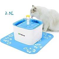 isYoung Bebedero Gatos Automático Fuente de Agua Gatos y Perros 2.5 L Dispensador Automático de Agua para Mascotas Fuente para Mascota Gato y Perro con 2 Filtros