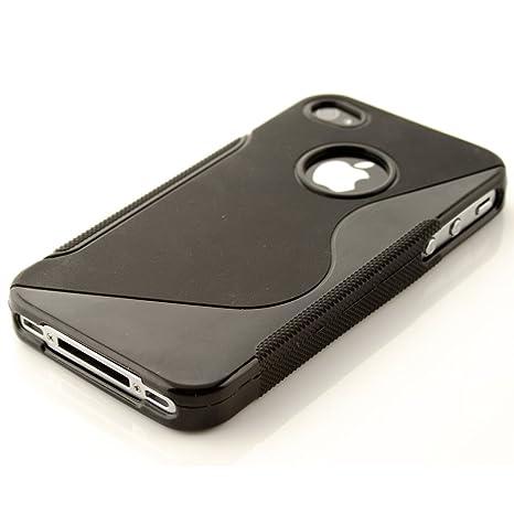 kwmobile Apple iPhone 4 / 4S Hülle - Handyhülle für Apple iPhone 4 / 4S - Handy Case in Schwarz