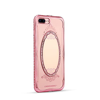 mirror iphone 7 plus case. iphone 7 plus mirror case, casecodec princess series - ultra-slim tpu transparent clear iphone case c