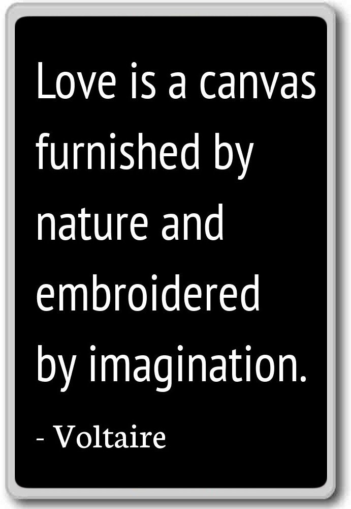 Amazon Love Is A Canvas Furnished By Nature And Embroider