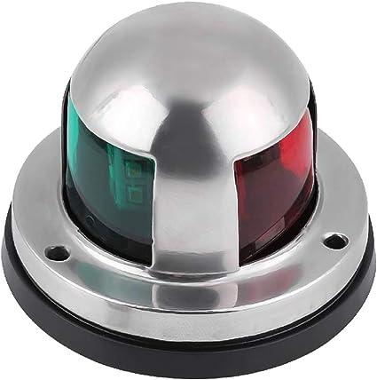 Boat Yacht Pontoon 12V Stainless Steel LED Bow Navigation Light Green/&Red