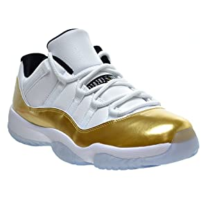 Ambar Zuiga Jurado Men's Basketball Sneakers AIR JORDAN 11 RETRO LOW CLOSING CEREMONY White and Golden (9) Performance Sports Shoes