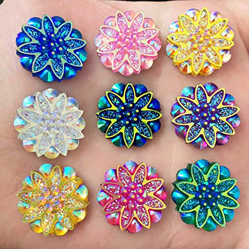 Used, HATCHMATIC New 20PCS 18mm AB Resin Flower Rhinestone for sale  Delivered anywhere in Canada