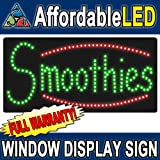 Affordable LED L8504 12 H x 24 L in. Smoothies LED Sign