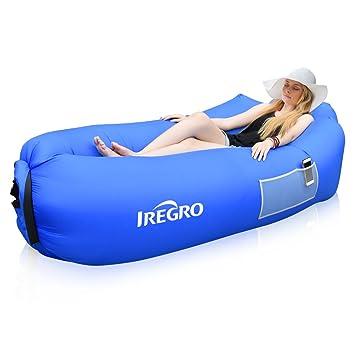iRegro Tumbona Inflable, portátil, Impermeable, cómoda, para ...