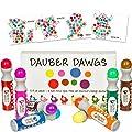 8-pack Washable Dot Markers / Bingo Daubers Dabbers Dauber Dawgs Kids / Toddlers / Preschool / Children Art Supply 3 Pdf Coloring eBooks = 100 Activity Sheets To Do!