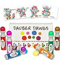 8-pack marcadores de puntos lavables /Bingo Daubers Dabbers Dauber Dawgs Kids /Toddlers /Preschool /Children Art Supply 3 Pdf Libros para colorear = 100 hojas de actividades ¡Para hacer!