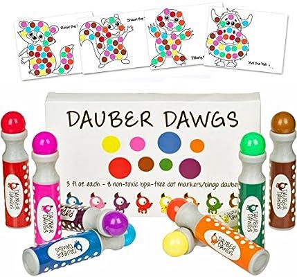 8 Pack Washable Dot Markers Bingo Daubers Dabbers Dauber Dawgs