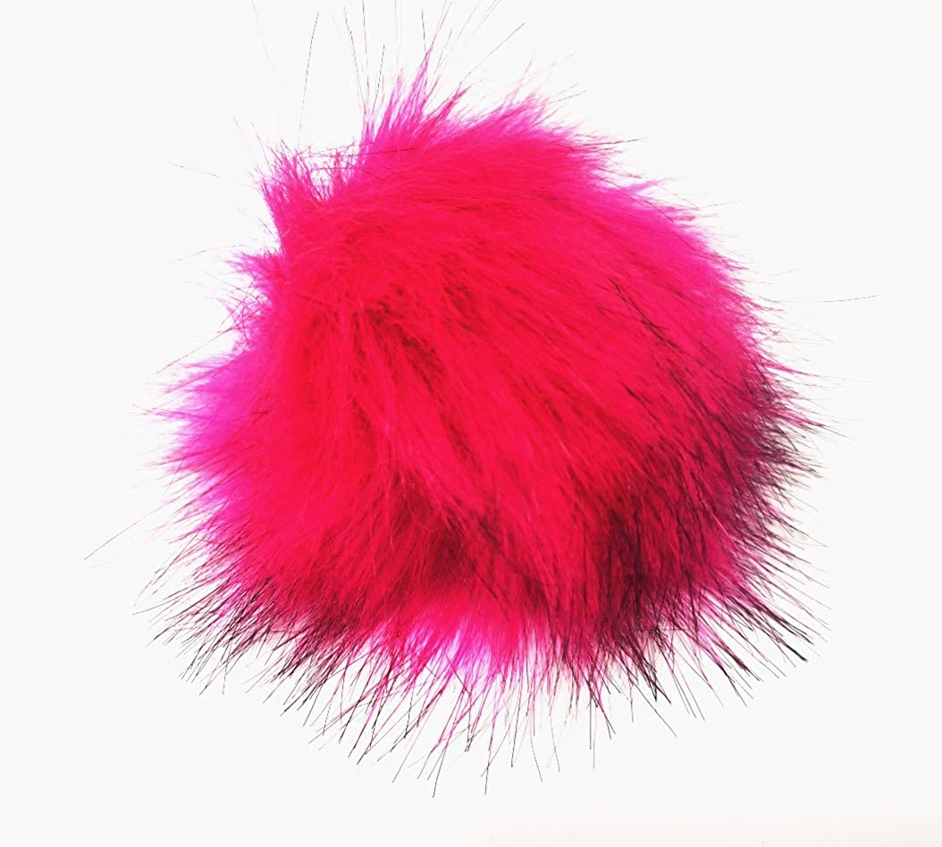 Portable Sewing Kit Mothers Day Gift 12pcs Faux Raccoon Fur Fluffy Pom Pom Ball for Hat Shoes Scarves Bag Charms-Gift
