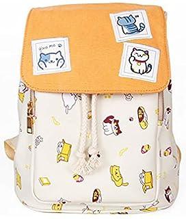 d9c9e3a5aa4e MONMOB Neko Atsume Anime Cover Type Lolita Style Cute Cat Backpack  Shoulders Bag Canvas Bag
