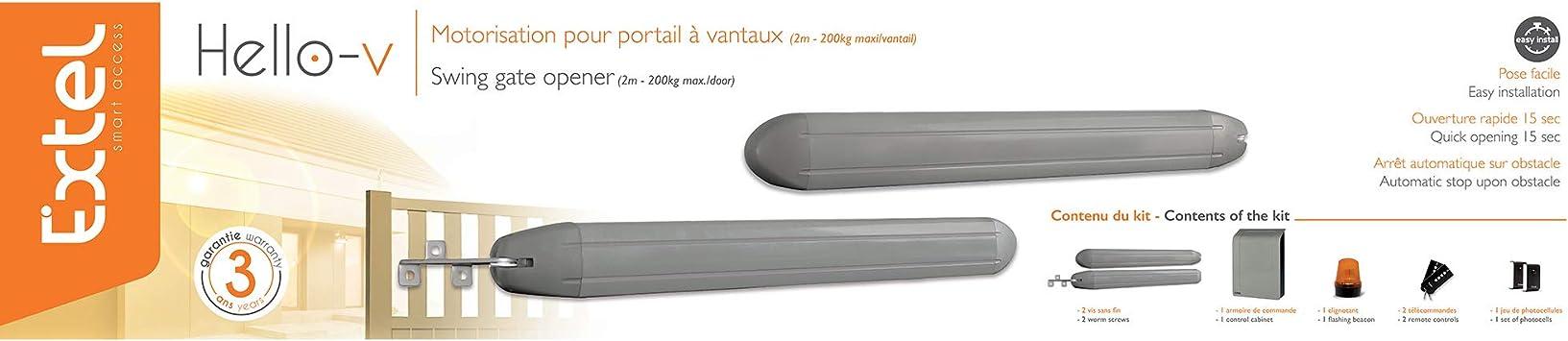 Extel 762405 Motorización para portal, 1 W, Gris: Amazon.es: Bricolaje y herramientas