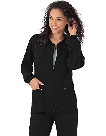 a5b4ec7c00b Jockey 2378 Women's Riveting Warm-Up Scrub Jacket - Comfort Guaranteed