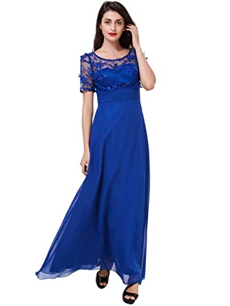 67a15d3e280 Tanpell Women s A-Line Applique Beading Mother of Bride Dress 2 Royal Blue