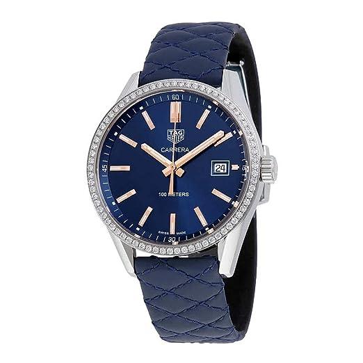 TAG Heuer Carrera Reloj de mujer diamante cuarzo 39mm WAR1114.FC6391: TAG Heuer: Amazon.es: Relojes
