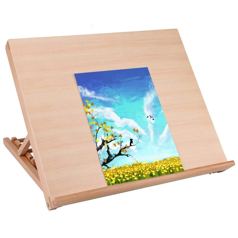 A2 Art und Craft Work Ideal para esbozar Tablero de Dibujo de Madera 49 x 42 x 6,5 cm Plegable Dibujar y planificar Multifuncional Ejoyous