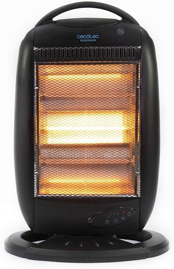 Cecotec Radiateur en Quartz digital Ready Warm 7200 Quartz Rotate Smart T/él/écommande sans Fil Oscillation Digital Grille de S/écurit/é 1200 W. Syst/ème Anti-renversement Minuterie 3 Puissances