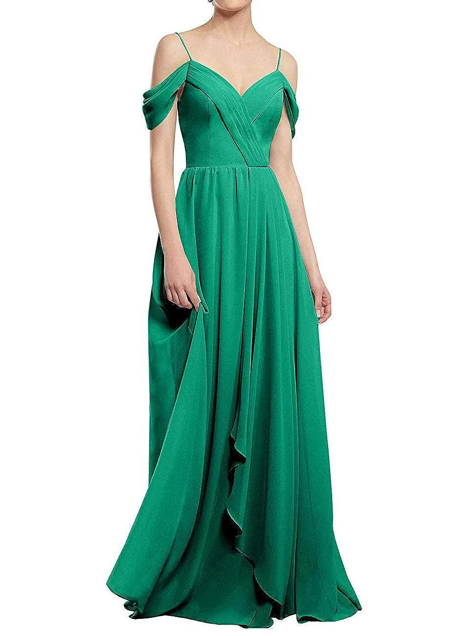 Green PrettyTatum ALine Cold Shoulder Long Party Prom Gown Sweetheart Neckline Bridesmaid Dresses