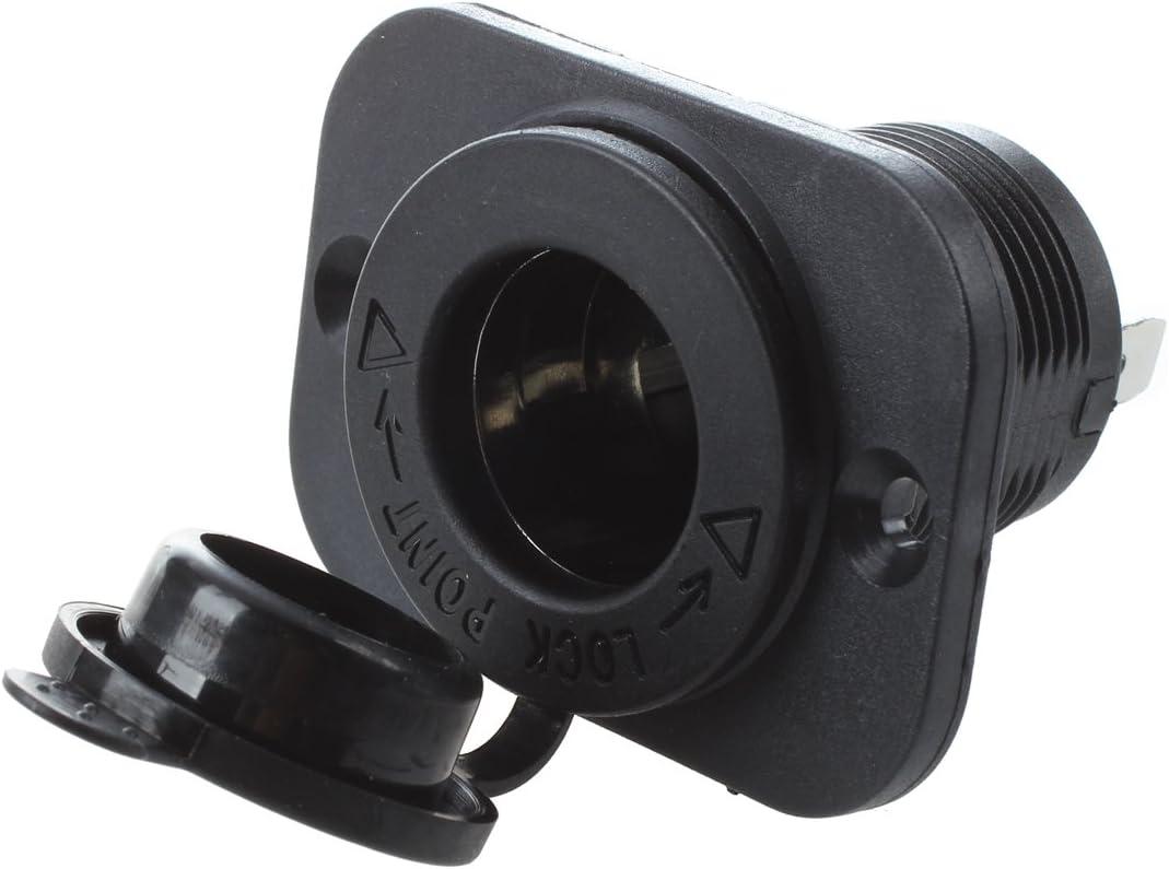 BKAUK 2 x Toma de Corriente Empotrable Mechero Conector 12V para Coche Moto Barco