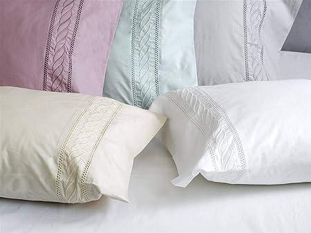 Algodon Blanco - Juego sábanas Minerva 100% algodón percal 210 Hilos - Cama 180 Cm - Color Blanco: Amazon.es: Hogar
