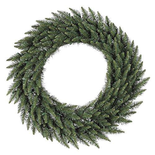 Camdon Tree Christmas Fir (Vickerman Unlit Frosted Bellevue Alpine Artificial Christmas Wreath, 60-Inch)
