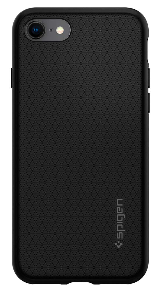Spigen Liquid Air Armor iPhone 7 Case/iPhone 8 Case with Durable Flex and Easy Grip Design for Apple iPhone 7 (2016) / iPhone 8 (2017) - Black