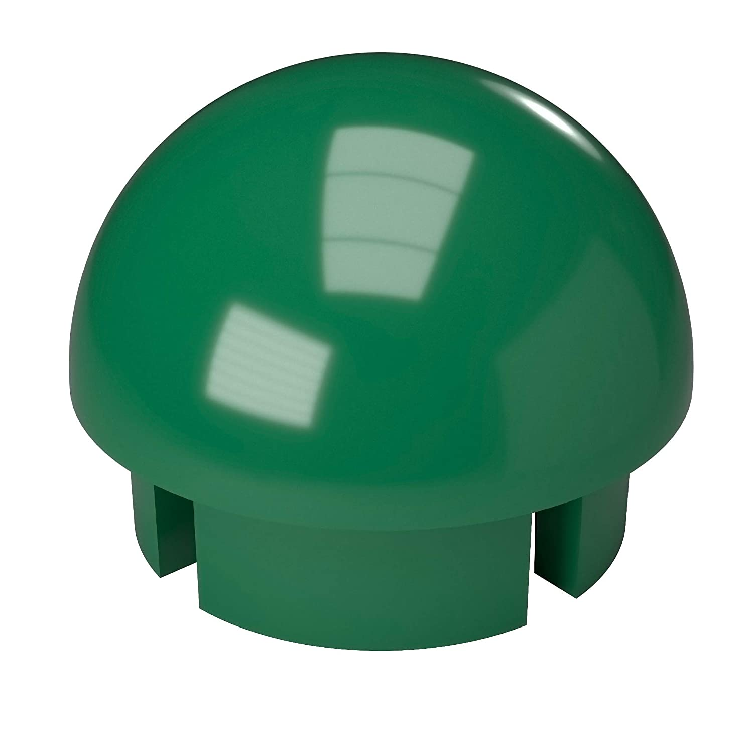 1//2 Size Pack of 10 Green FORMUFIT F012IDC-GR-10 PVC Internal Domed End Cap Furniture Grade