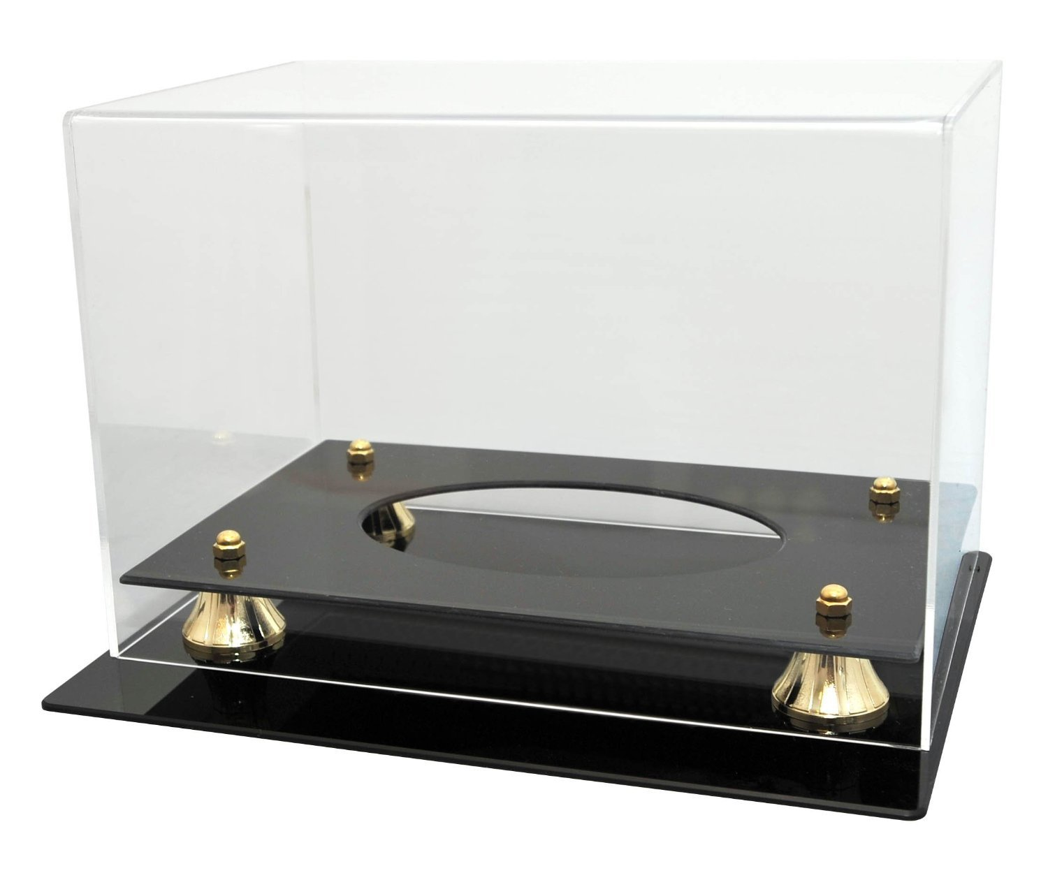 Football Display Case Holder 98% UV Protection Acrylic cover ALL 4 sides visible by Collectible Supplies (Image #2)