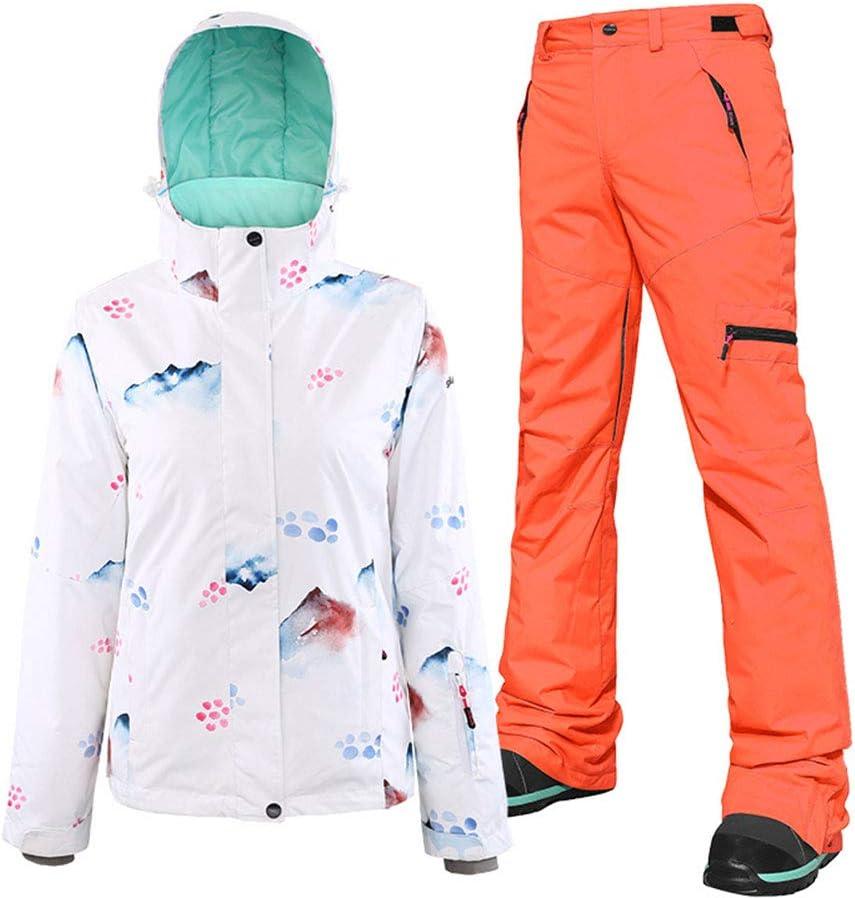 2019 スノーボードウェア 上下セット スキーウェア ジャケット/パンツ 白山タイプ 白山タイプ/オレンジパンツ Large