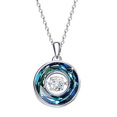 Wish Pendant Necklace Jewelry Made With Crystal Vitrail Medium Swarovski Crystals lypNkYH1y