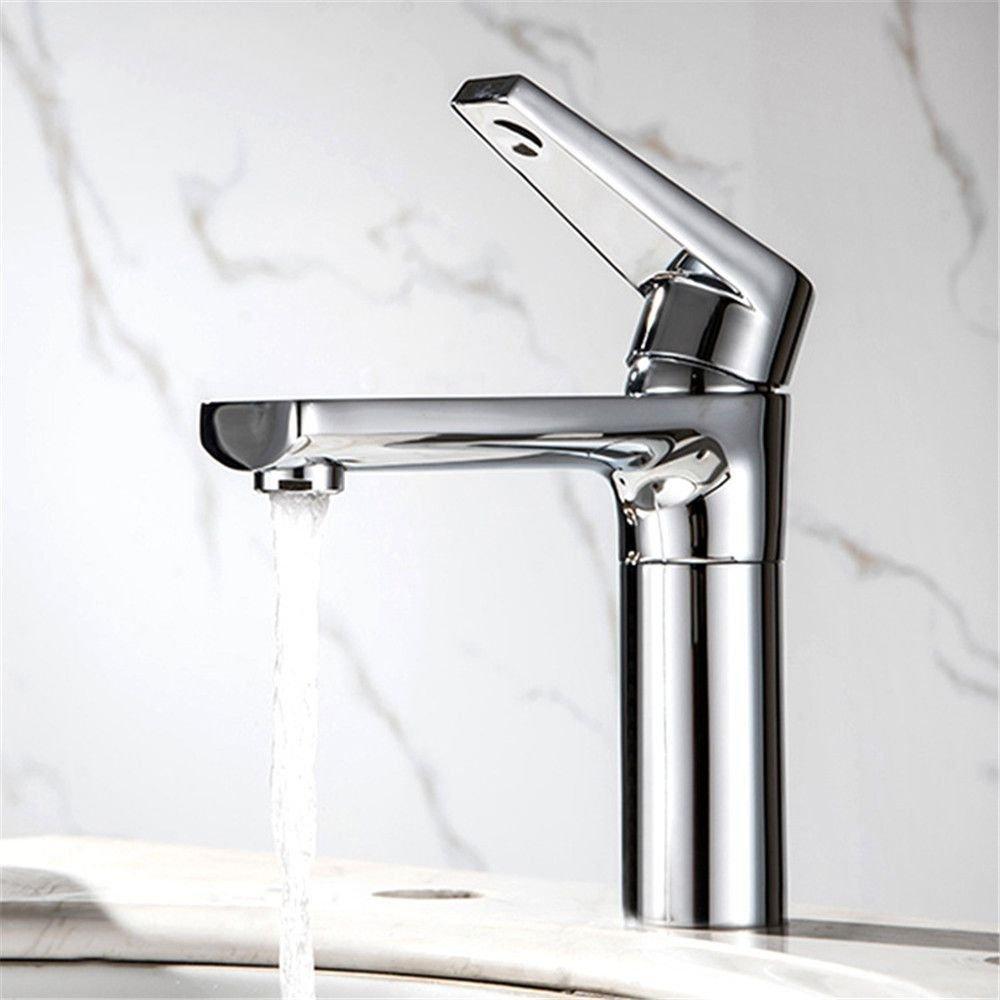 NewBorn Faucet Küche Oder Badezimmer Waschbecken Mischbatterie Wasserhahn aus Massivem Messing S Spüle Erkältung und Hot-Water Wasser Duplex Schnell auf Leitungswasser Taps A